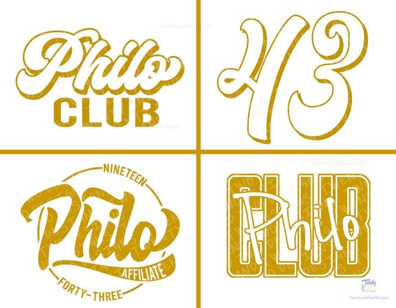Philos Svg SGRho Philos Philo Club Svg Philo Affiliate Svg