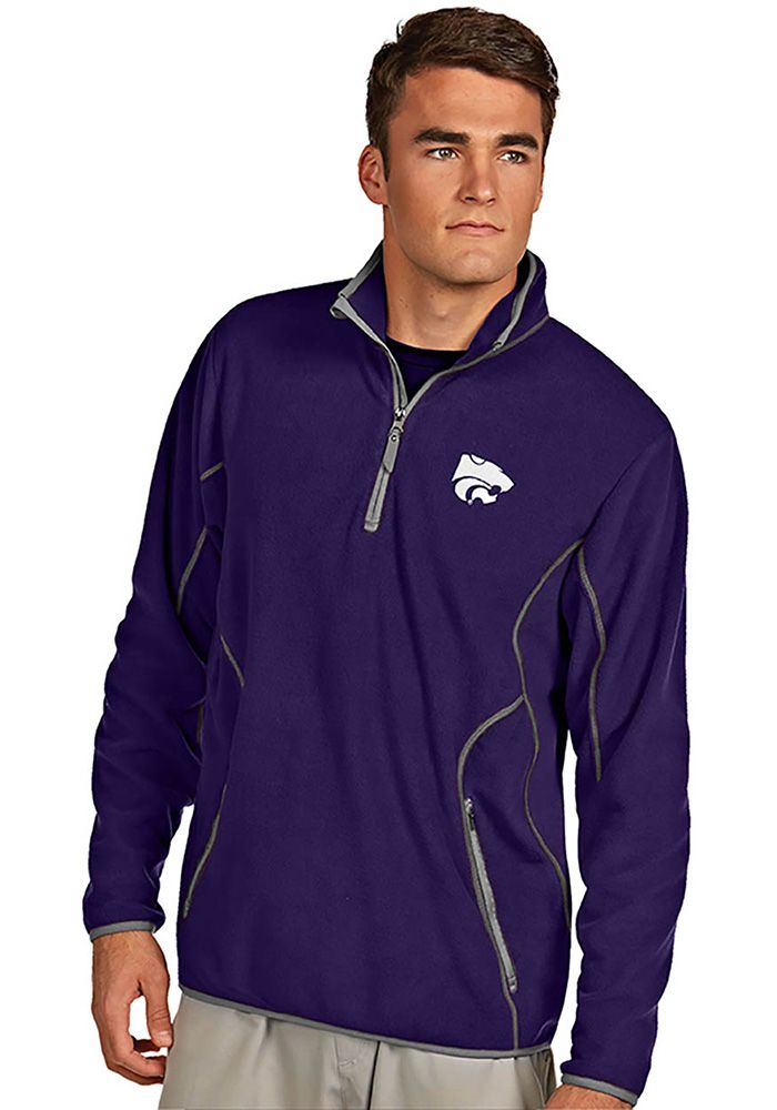 buy popular 4c32a 17295 Antigua K-State Wildcats Mens Purple Ice Long Sleeve 1 4 Zip Pullover,  Purple, 100% POLYESTER, Size L