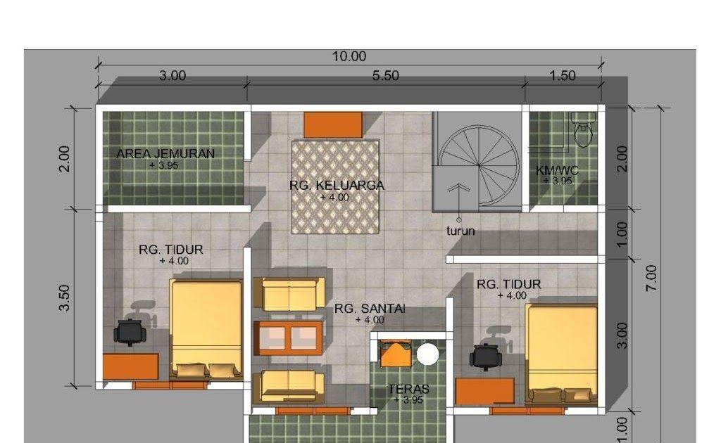 Berikut Rekomendasi Denah Rumah Minimalis 3 Kamar Ukuran 6x8 Denah Rumah  Minimalis 1 Lantai Ukuran 6x8 Desain Ru… Di 2020 | Denah Rumah Modern,  Denah Rumah, Desain Produk