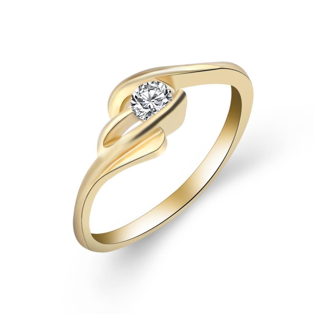 유명 브랜드 보석 골드 도금 큐빅 지르코니아 독특한 모양의 여성 결혼 반지 사이즈 5-10
