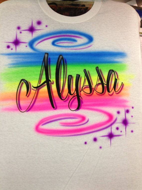 1680dc65a Airbrushed Personalized Rainbow Name Youth by airbrushingbytaylor, $14.00