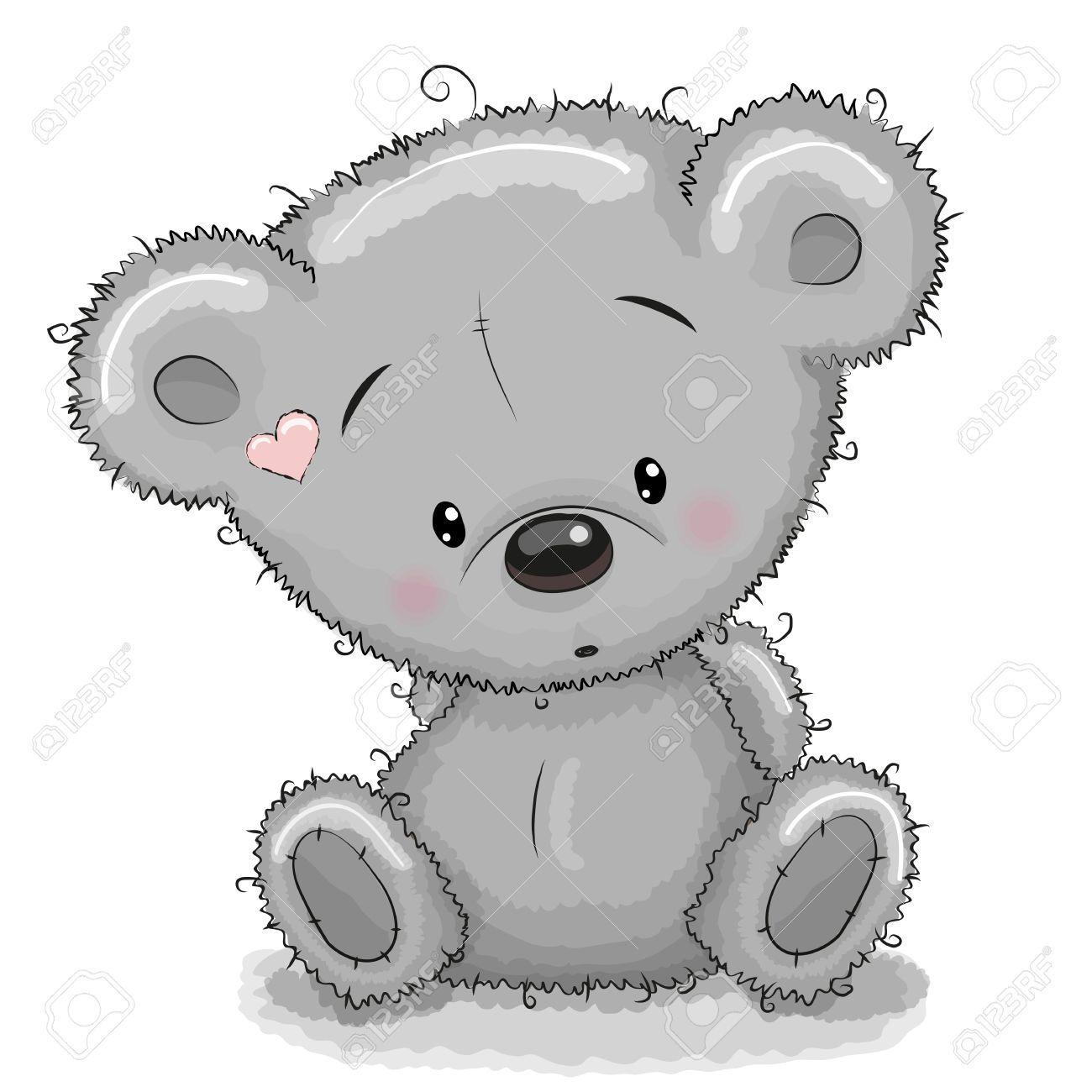 Cute Cartoon Teddy Bear Isolated On A White Background Royalty Free Teddy Bear Drawing Teddy Bear Nursery Decor Teddy Bear Wall Decor