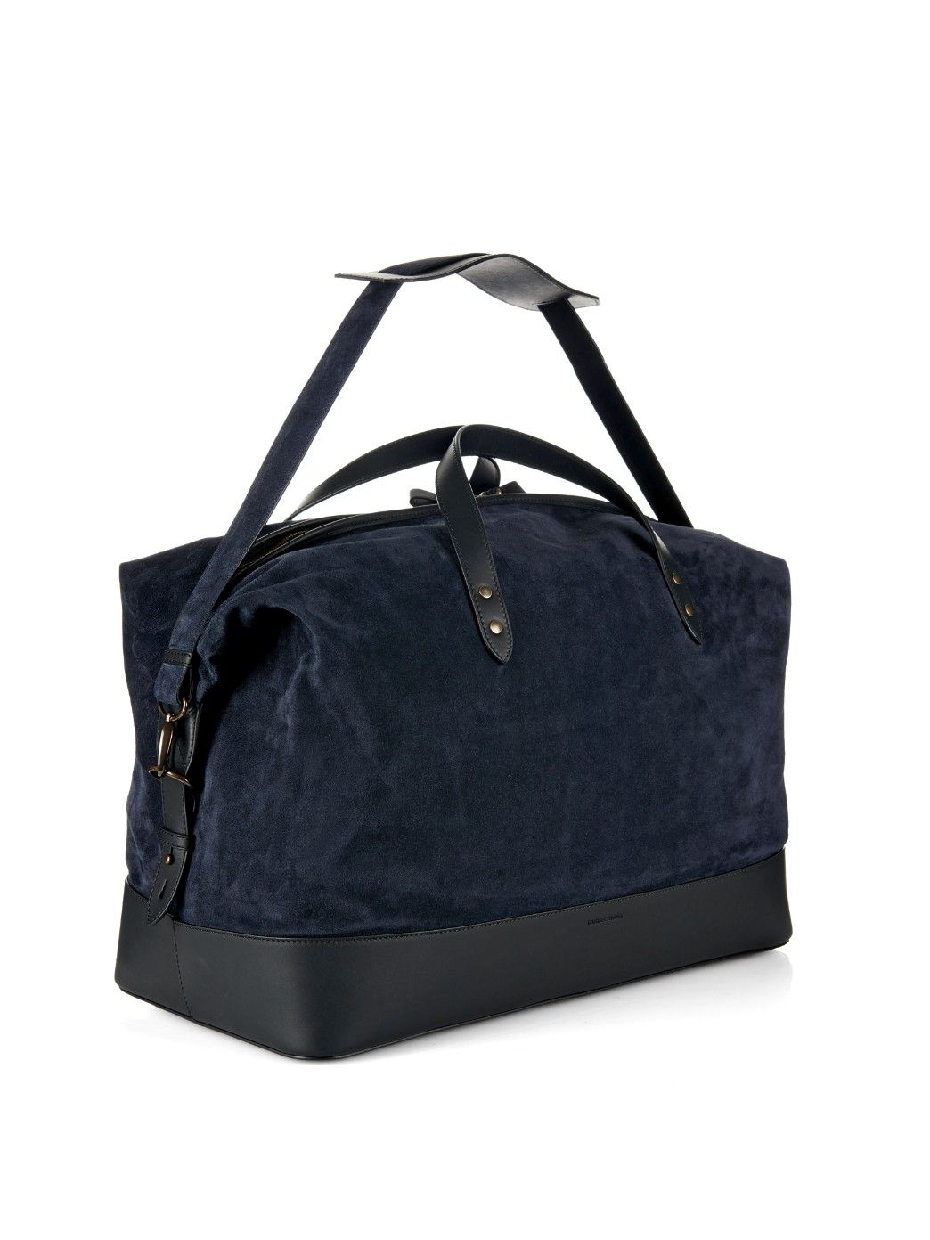 10299378c36 Suede and leather weekend bag | Tomas Maier | MATCHESFASHION.COM ...