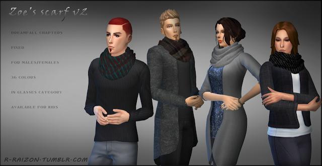 Sims 4 CC's - The Best: Scarf by Raizon