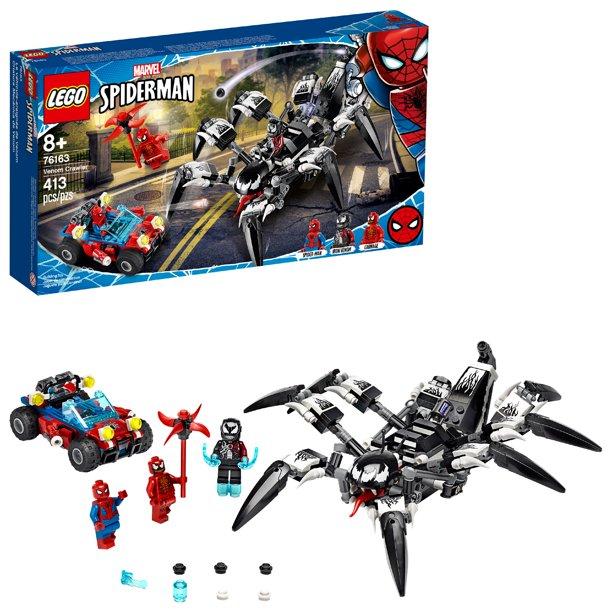 Lego Marvel Avengers Venom Crawler 76163 Spider Man Vs Venom Mech Playset 413 Pieces Walmart Com In 2021 Lego Marvel S Avengers Lego Spiderman Lego Marvel