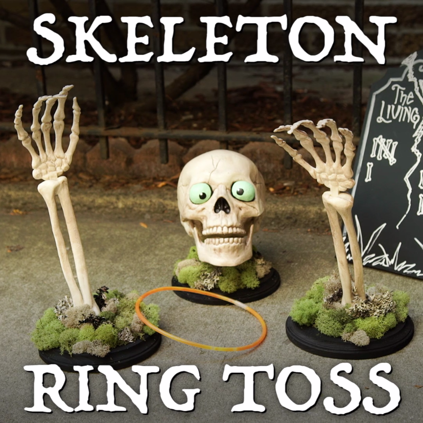 Diy skeleton ring toss game healthy eating pinterest - Scary skeleton games ...