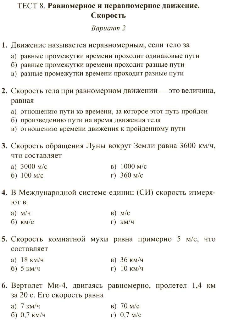 Вопросы к мониторингу русский язык 7 класс