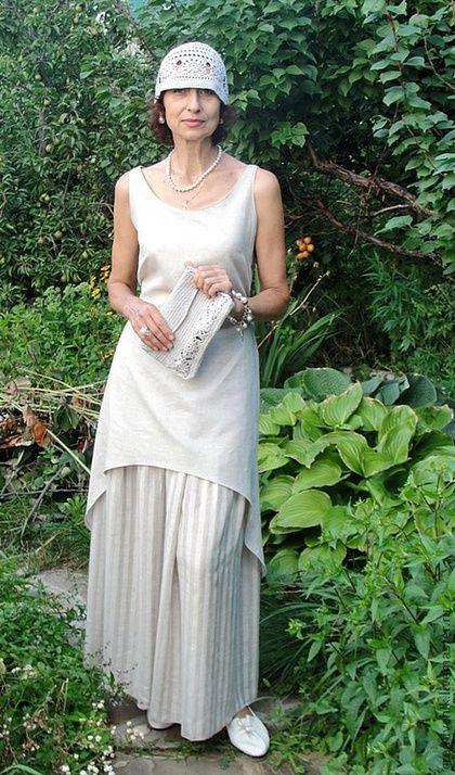 Платья ручной работы. Ярмарка Мастеров - ручная работа. Купить Летнее платье  и подъюбник из натурального льна. Handmade. f4a1acf836e