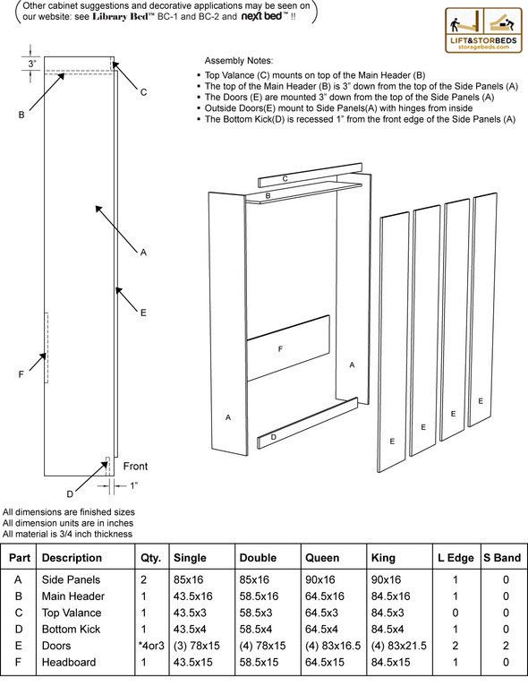 Cut list for next bed diy projects to try pinterest murphy bed there is a new generation of murphy beds now called the next bed our next bed do it yourself hardware kits are available in twin doublefull queen solutioingenieria Image collections