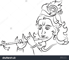 Image Result For Images Of Line Drawing Krishna Krishna Drawing Lord Krishna Sketch Sketches