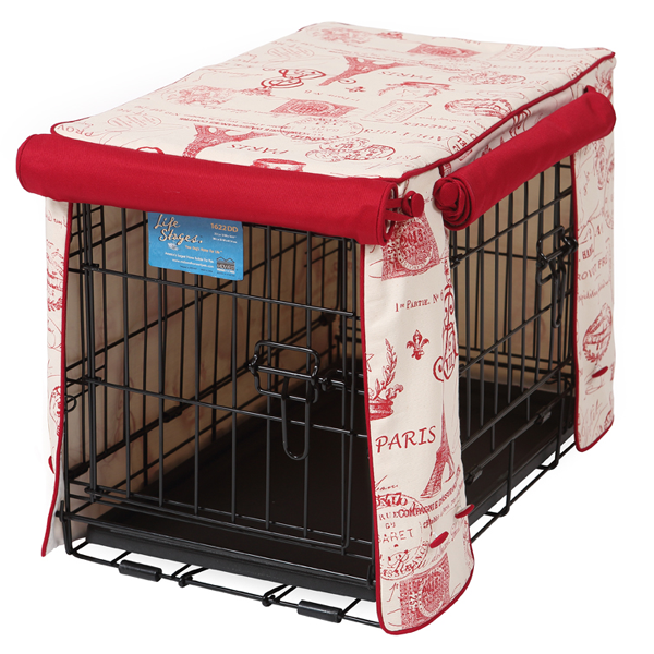 Parisian Red Stagecoach Dog Crate Cover Dog Crate Cover Crate Cover Dog Crate