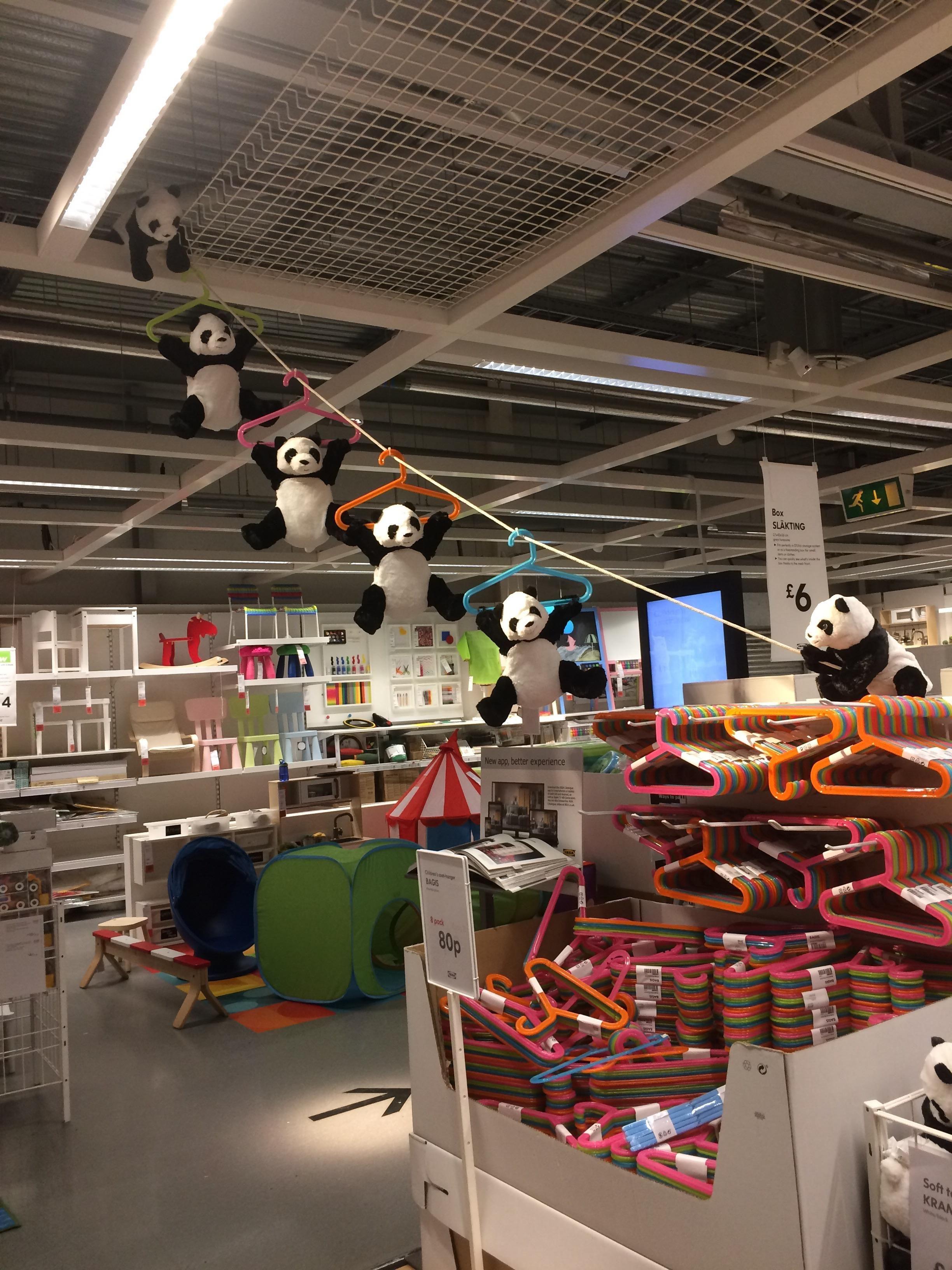 Panda getaway mission in IKEA funny lol comedy fun