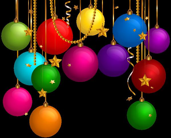 Hanging Christmas Balls Decor Png Clip Art Clip Art Christmas Balls Christmas Templates