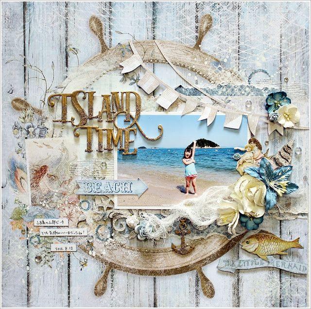 Seaside Cottage Layout by Yuko | Blue Fern Studios | Bloglovin'
