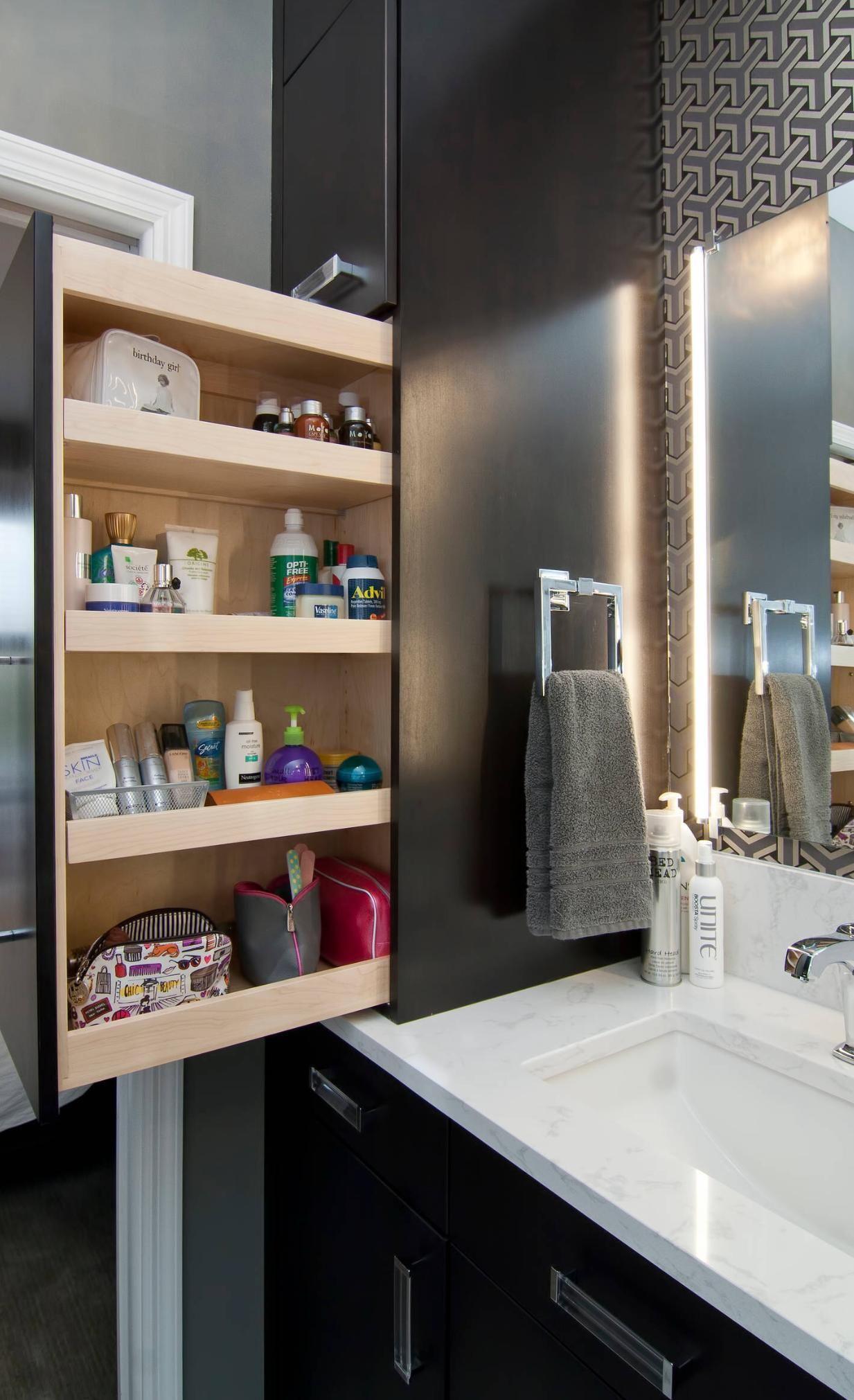 Master bath tall cabinet to right of sink ideas de casa