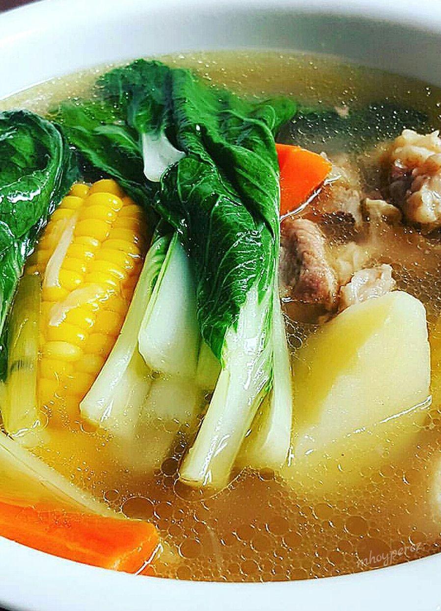 Photo of Mga sangkap: 1/2 kilo beef shank kalitiran 2 pcs sweet corn 2 pcs patatas 1…