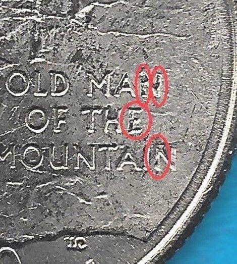 2000 P - NEW HAMPSHIRE STATE QUARTER ERROR COIN - REV - OBV
