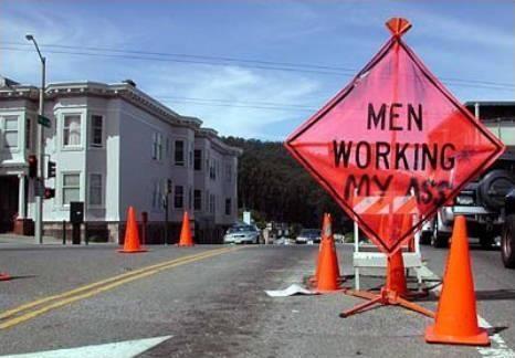 Men working?