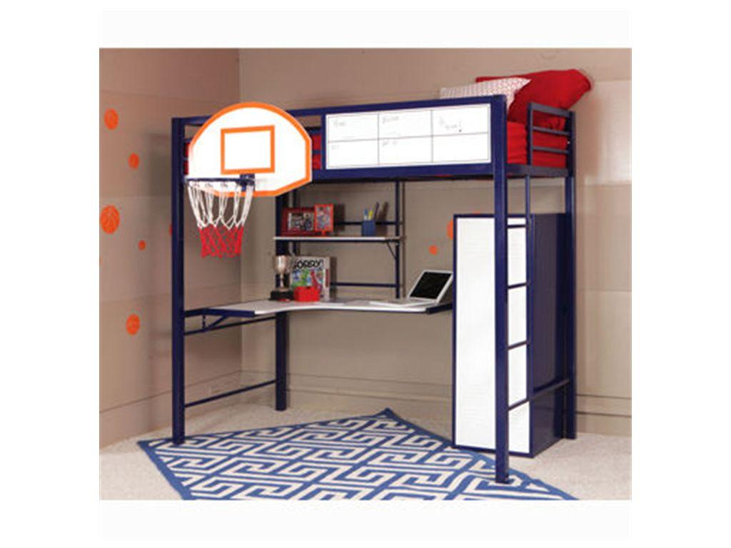 Powell Furniture Bedroom Hoops Metal Basketball Bed 14y2002 Showcase Stillwater Ok