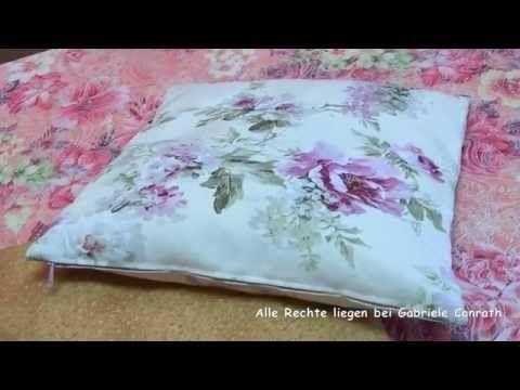 Kissenbezug Mit Reissverschluss In 2 Versionen Nahen Diy Youtube