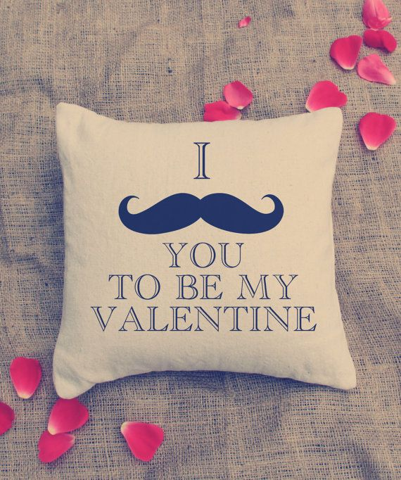 valentine pillow -I MUSTACHE YOU Pillow - Custom Pillows  - home deco - mustache. $24.00, via Etsy.