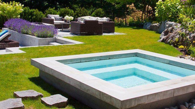 Whirlpool im Garten - moderne Gestaltungidee Whirlpool Pinterest