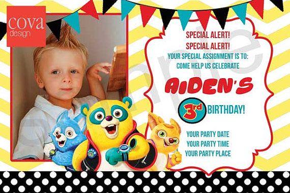 Special Agent Oso Birthday Invitation