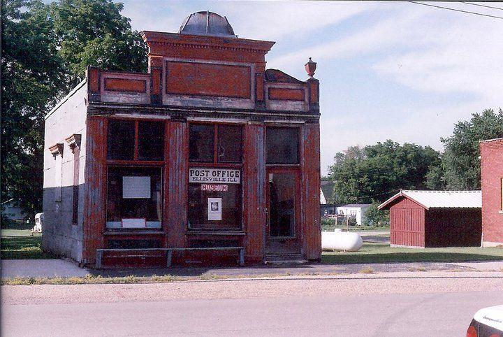 Old Post Office In Ellisville Illinois Old Post Office Post Office House Styles