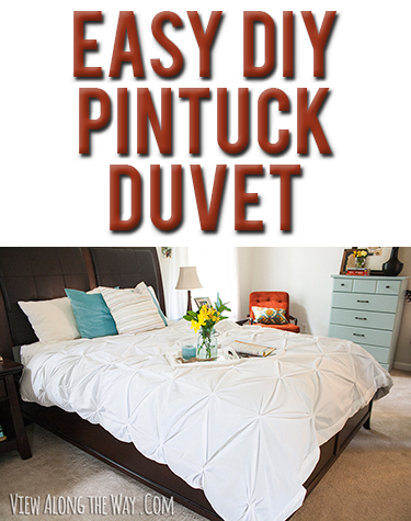 Tutorial How To Make A Diy Pintuck Duvet Cover With Images Pintuck Duvet Diy Duvet