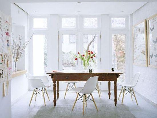 Lisa Elwell Design White Dining Room Interior Home