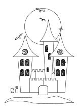 Schloss Happy Halloween Mit Fledermausen Halloween Ausmalbilder Grusel Halloween