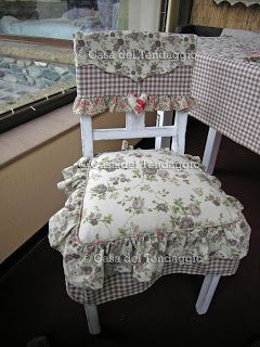 cuscini per sedia country | Gingham | Pinterest | Shabby, Patchwork ...