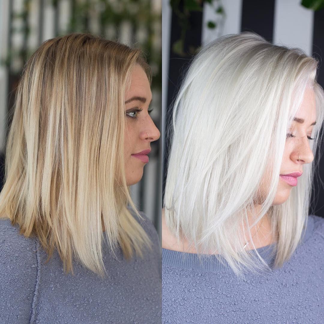 Von Blond Zu Braun Oder Von Lang Zu Kurz Eine Neue Frisur Kann Deinen Typ Komplett Verandern Wie Stark Di Icy Blonde Hair Hair Makeover Platinum Blonde Hair