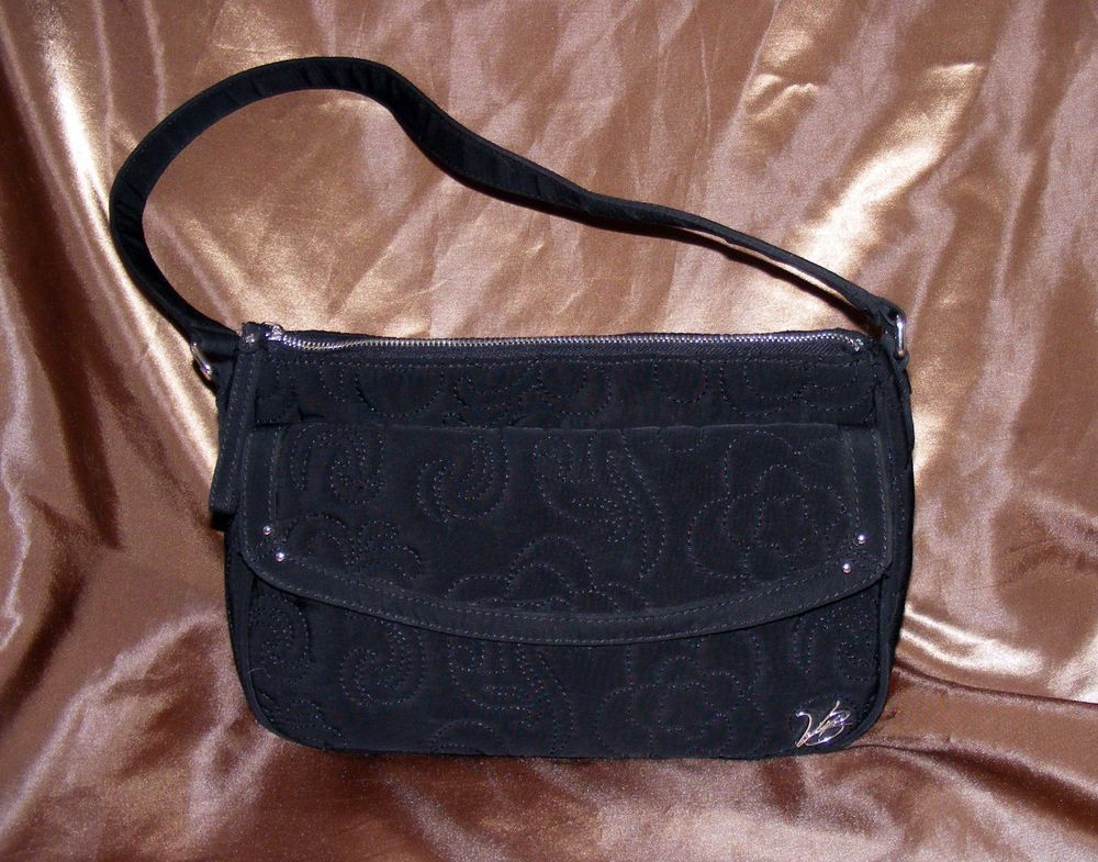Vera Bradley  Black Microfiber Shoulder Bag, Vera Vera Collection, NEW w/o tag #VeraBradley #ShoulderBag