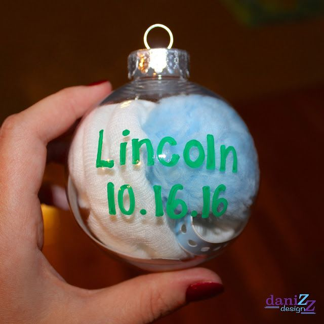 Diy Baby S First Keepsake Ornament Using Your Hospital Hat And Arm Bracelet