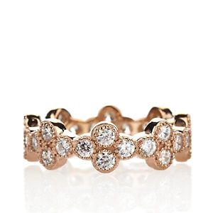 Jean Dousset 1.28ct Absolute™ Round Cluster Eternity Band Ring at HSN.com