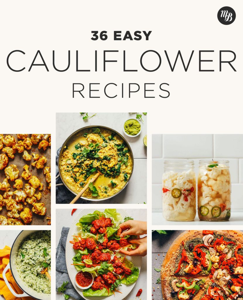 36 Easy Cauliflower Recipes Minimalist Baker In 2020 Easy Cauliflower Recipes Cauliflower Recipes Easy Cauliflower