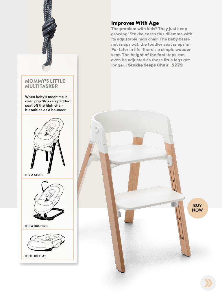 Stokke Steps Chair Featured In Wired Magazine Kids Baby Design Modern Decor Scandinavian Baby High Chair Innovative Baby Products Baby Design