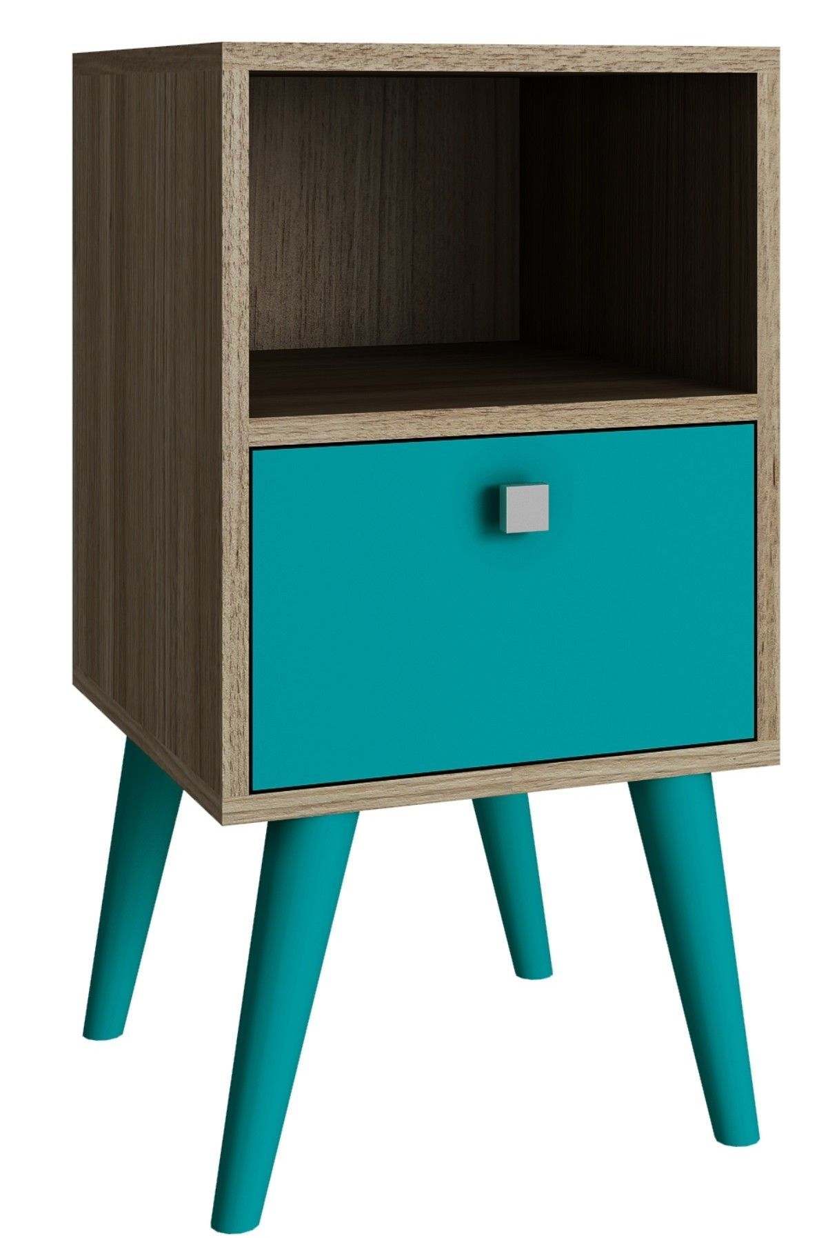 Carneal 1 Drawer Nightstand Modern Side Table White Side Tables Colorful Furniture