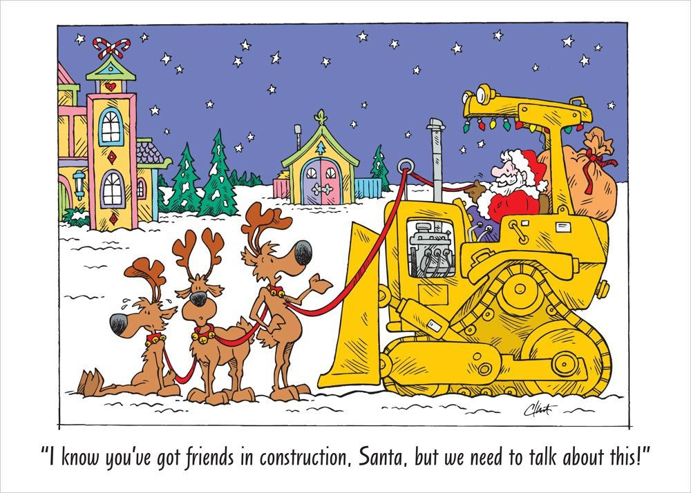 Santa Claus is coming to town! #Construction | Santa ...