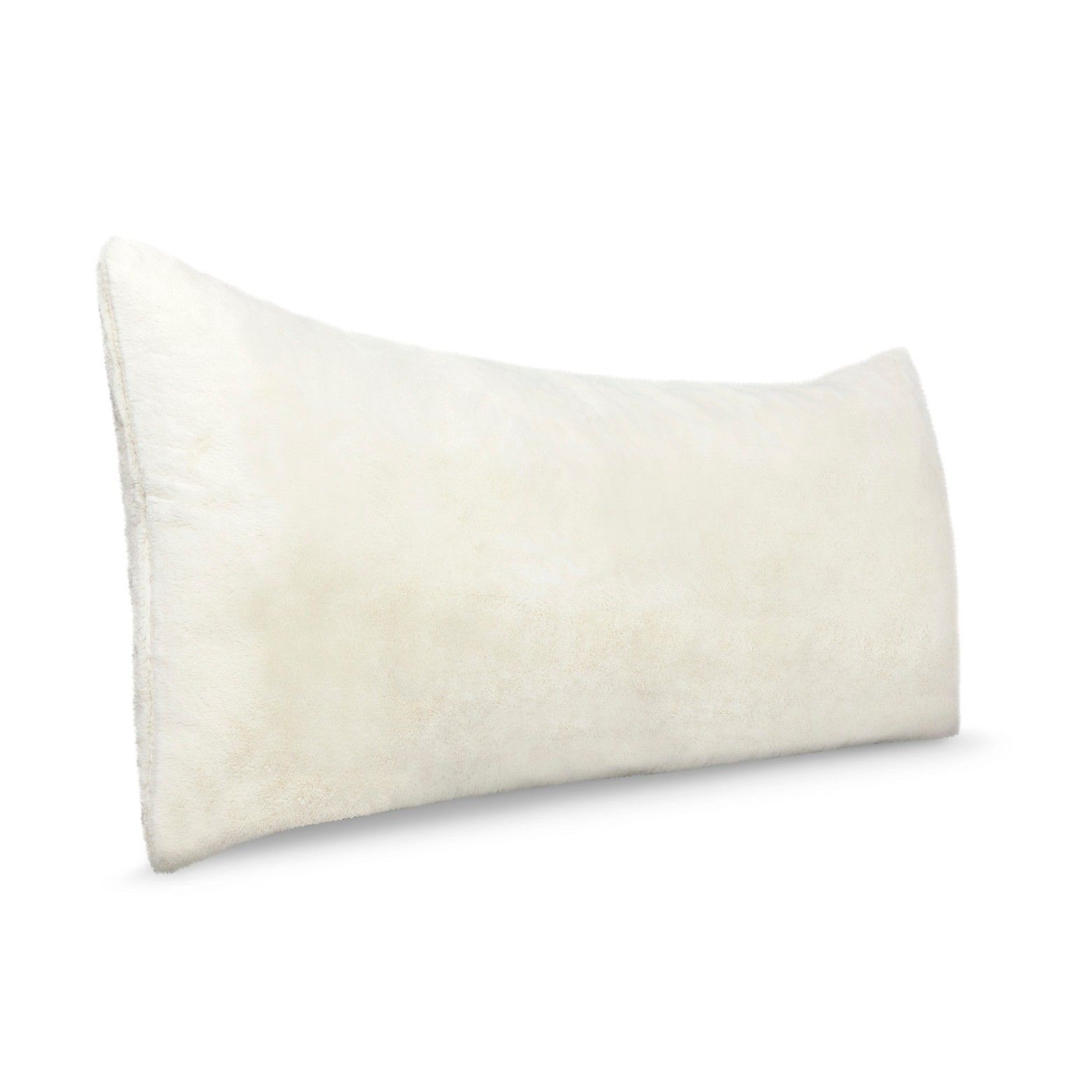 white fur body pillow or pillow cover room essentials fur body pillow cover white or gray