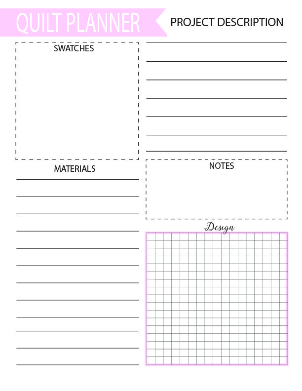 Free Quilting And Sewing Planners