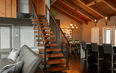 How Much Do Floating Stairs Cost Viewrail Mid Century Modern House Floating Stairs Floating Staircase