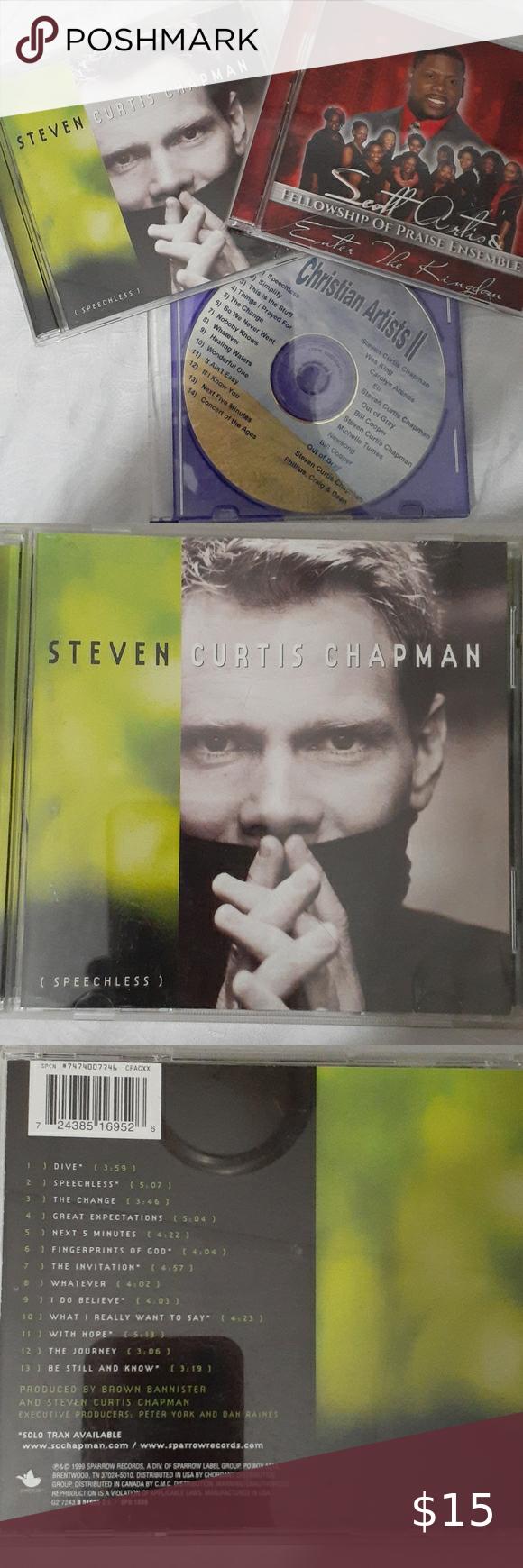 Christian 3 Cds Steven Curtis Chapman More Christian Artists Steven Christian