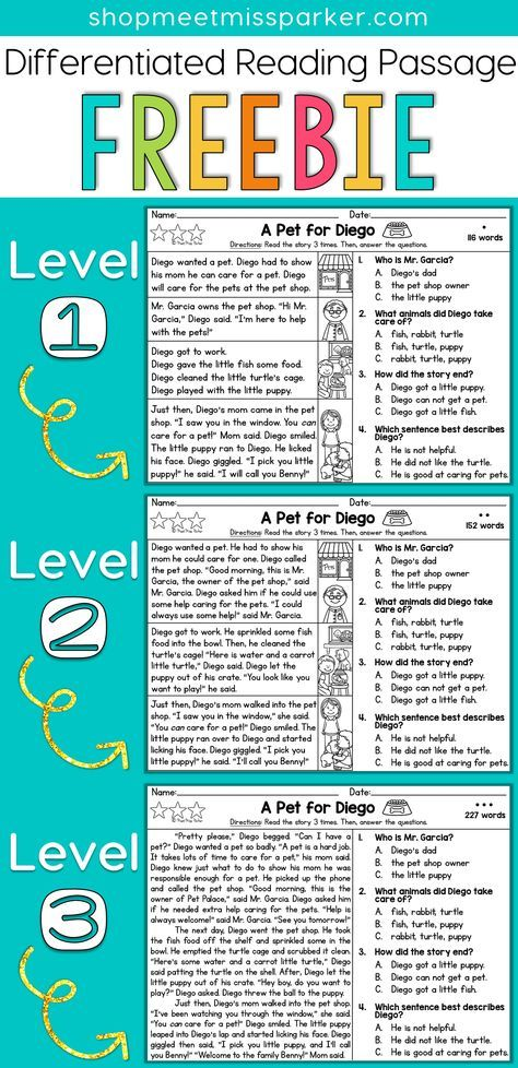 33++ Differentiated reading comprehension worksheets Images