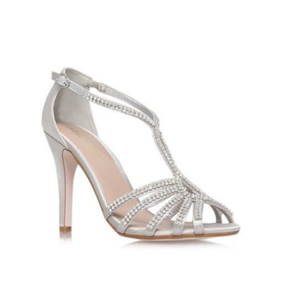 Miss KG Silver 'Pippa2' High Heel Occasion Shoes- at Debenhams.com