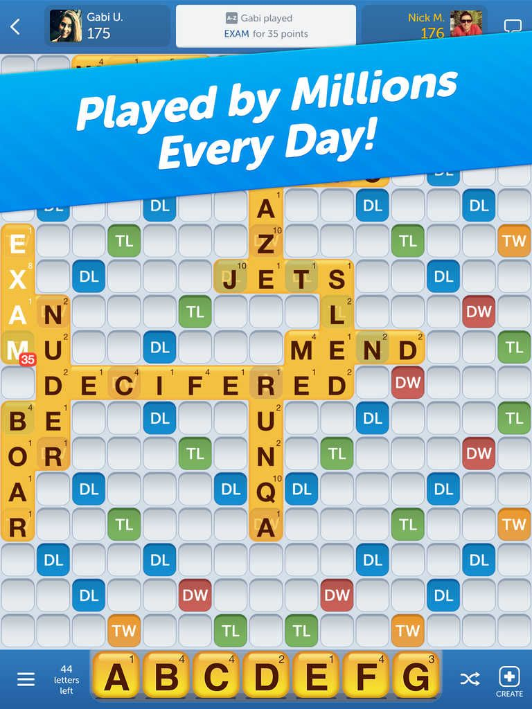 Words With Friends Word Game in 2020 Words with