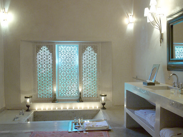 Morocco bathroom design on arabian style bathroom design for Beautiful washrooms