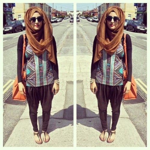 I want harem pants so baaad. Looks so great on hijabis! #hijab