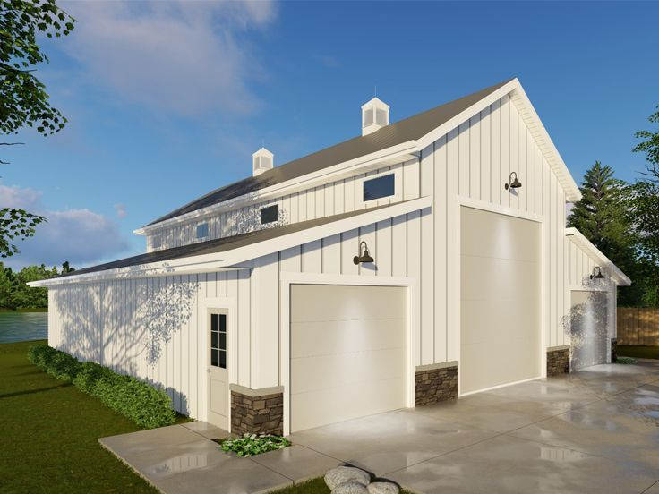 Pole Barn Plan, 050B-0004 #polebarndesigns Pole Barn Plan, 050B-0004 #polebarnhomes